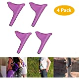 Female Urination Device - Women Portable Lightweight Silicone Travel Urinal,4 PCS