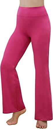 REETOYO Women's High Waisted Boot Cut Yoga Pants Workout Bootleg Flares Pants with Inner Pocket