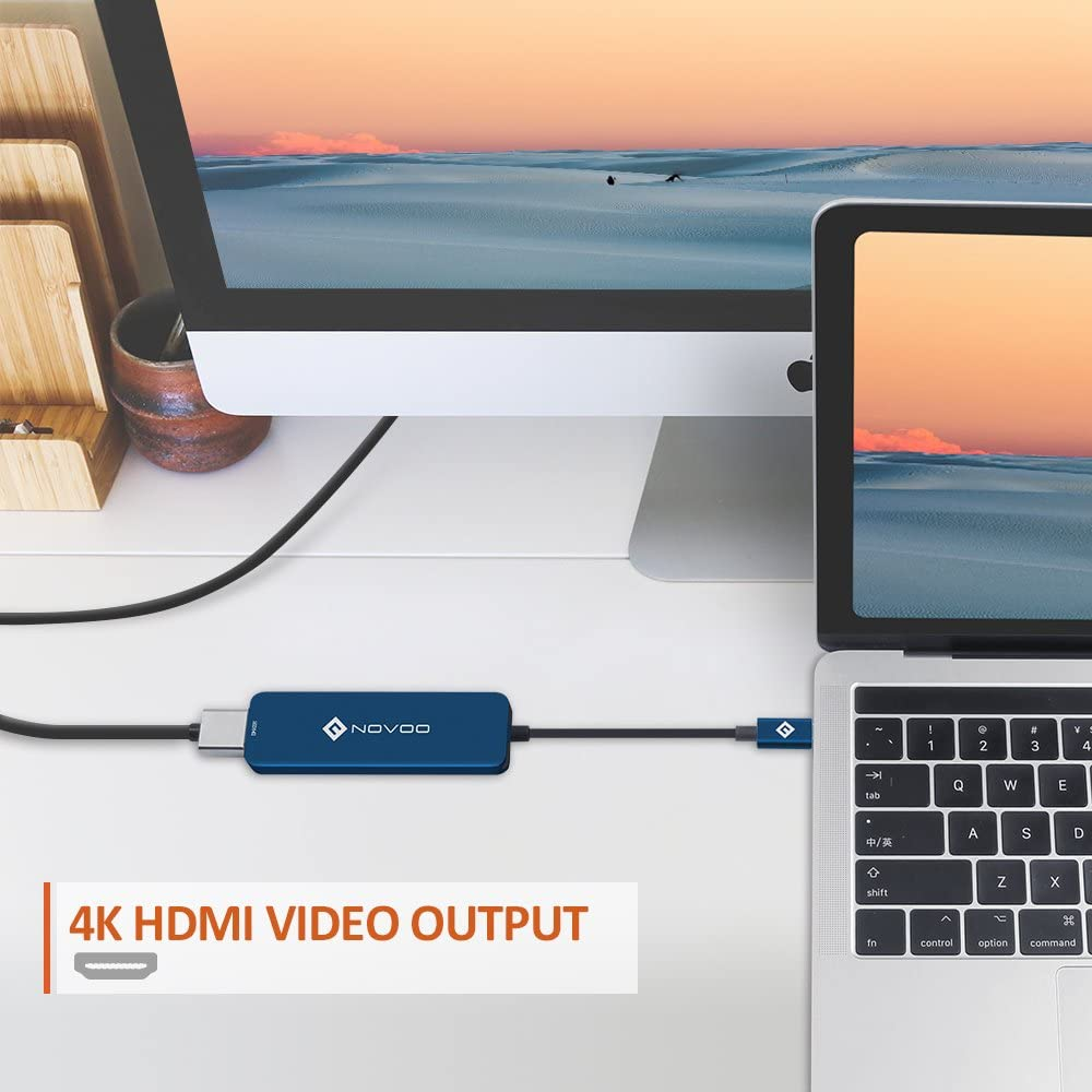 TF//SD Card Reader Type C hub Adapter Dongle Compatible for MacBook Pro//Air,Samsung,Huawei,USB C Devices SUOMO USB C Hub USB C Hub Adaptor,6 in 1 Type C Hub Adapter with 4K HDMI 3 USB 3.0 Ports