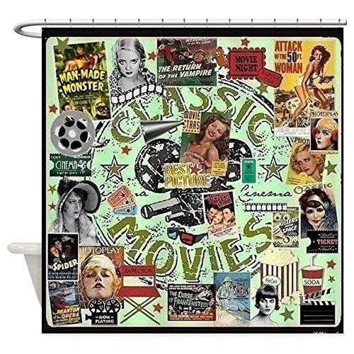 CafePress - Movie Night Shower Curtain - Decorative Fabric Shower Curtain (69''x70'') by CafePress