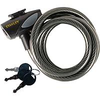 Stanley S755-202 Cable para Bicicletas, 3 Llaves, Negro