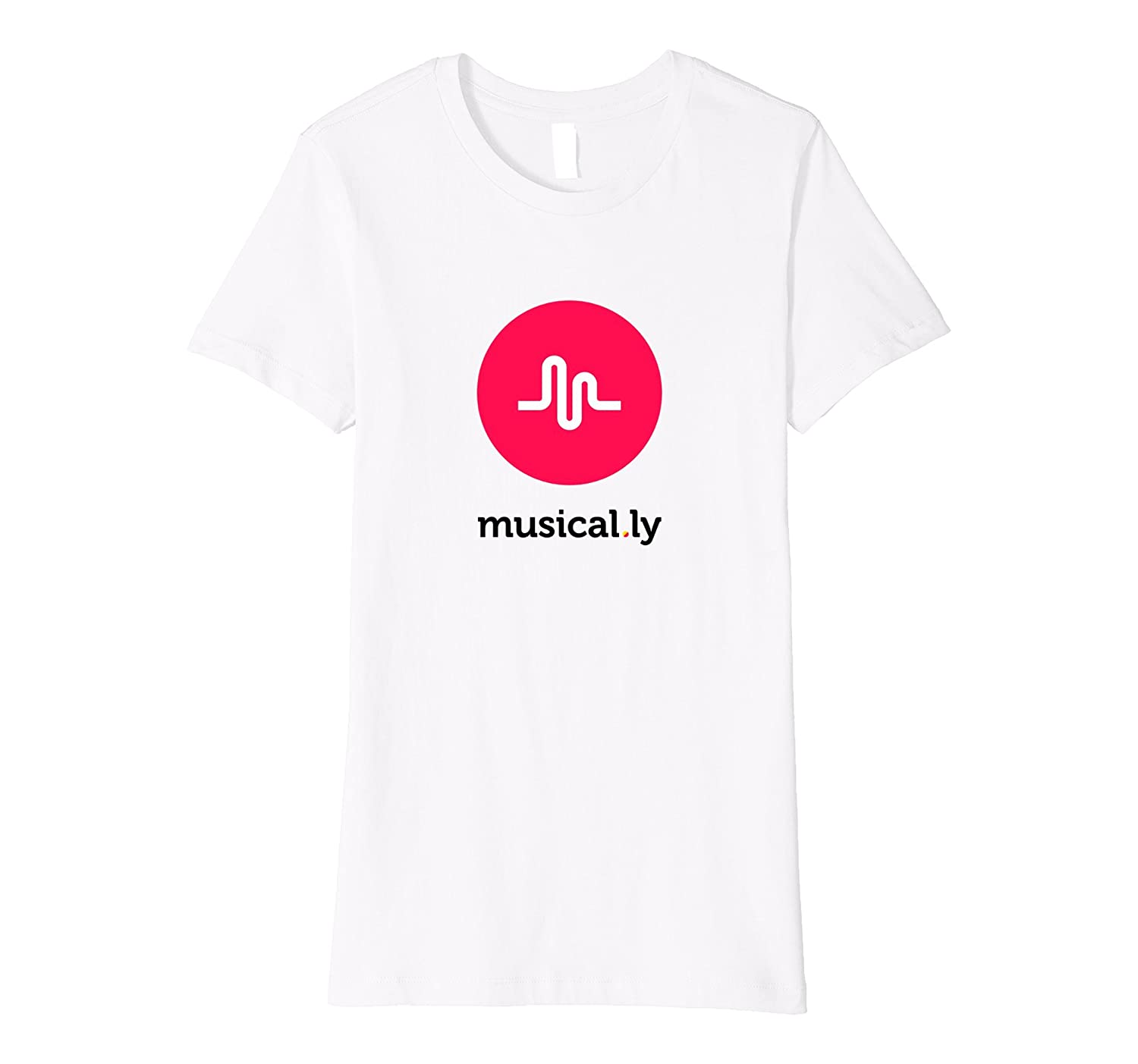 Amazon.com: 'musical.ly' T-Shirt (White - Fitted Cut): Clothing