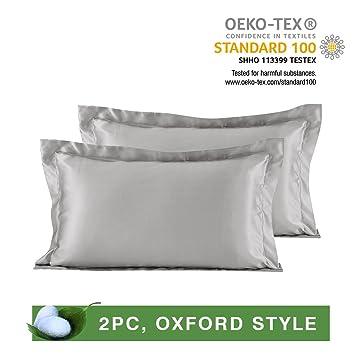 Amazon.com: Lilysilk Par de fundas de almohada de seda ...