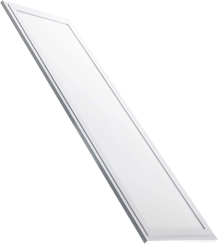 Panel Led Ultrafino 120x30 cm, 48w. Color Blanco Neutro (4500K). 4000 lumenes. A++