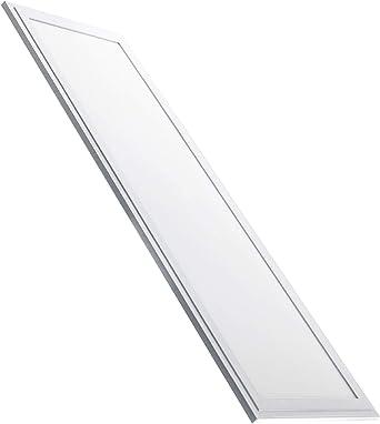 Oferta amazon: Panel Led Ultrafino 120x30 cm, 48w. Color Blanco Neutro (4500K). 4400 lumenes. Driver incluido. A++           [Clase de eficiencia energética A++]
