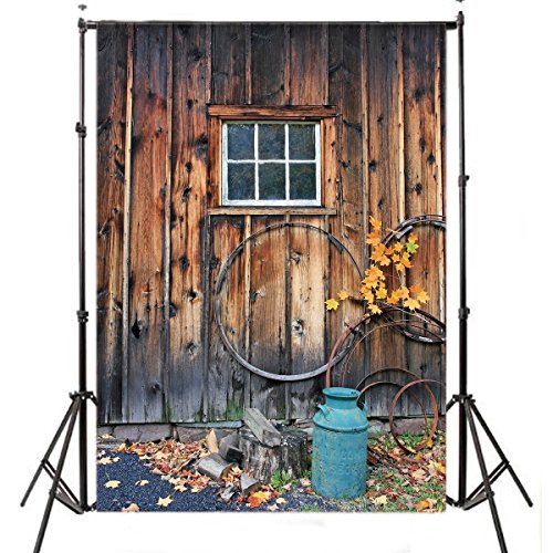 lb 5x7ft rustic barn door poly fabric photography backdrop