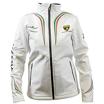 Automobili Lamborghini Squadra Corse Men S White Softshell Jacket