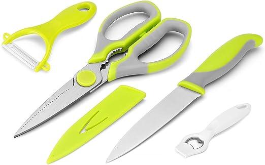 Amazon.com: Cuchillo de cocina y tijeras juego por wellstar ...