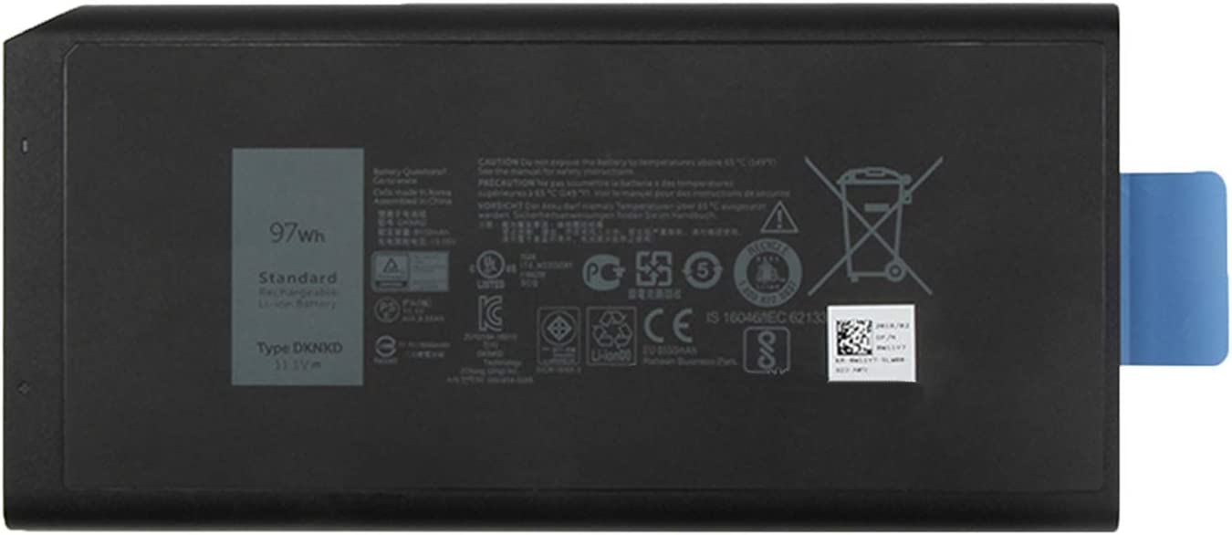 SUNNEAR DKNKD 97Wh Laptop Battery Replacement for Dell Latitude 14 Rugged 5404 7404 5414 7414 Series Notebook X8VWF 4XKN5 CJ2K1 5XT3V VCWGN XN4KN XRJDF YGV51 453-BBBE 11.1V 8550mAh 9-Cell