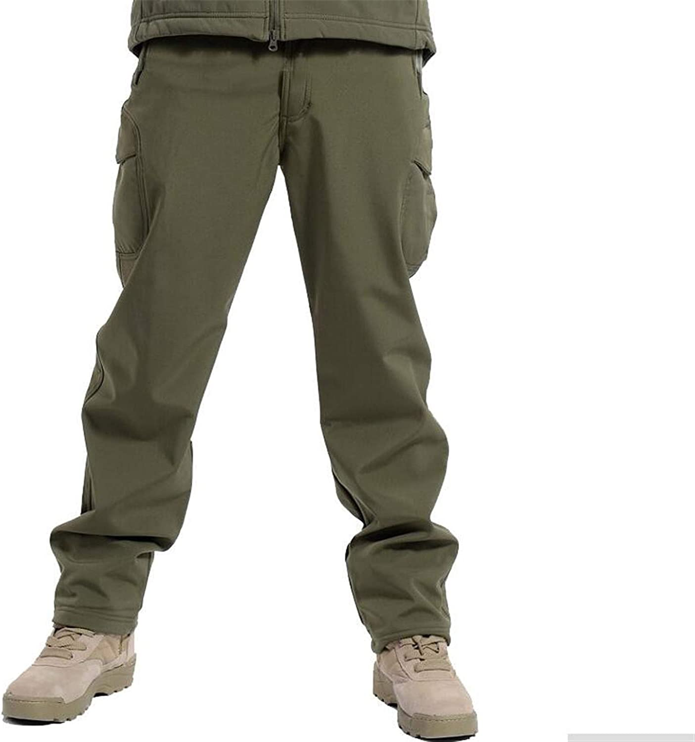 Cyose Style Winter Tactical Military Camouflage Pants Men Windproof Waterproof Camo Army Fleece Pants