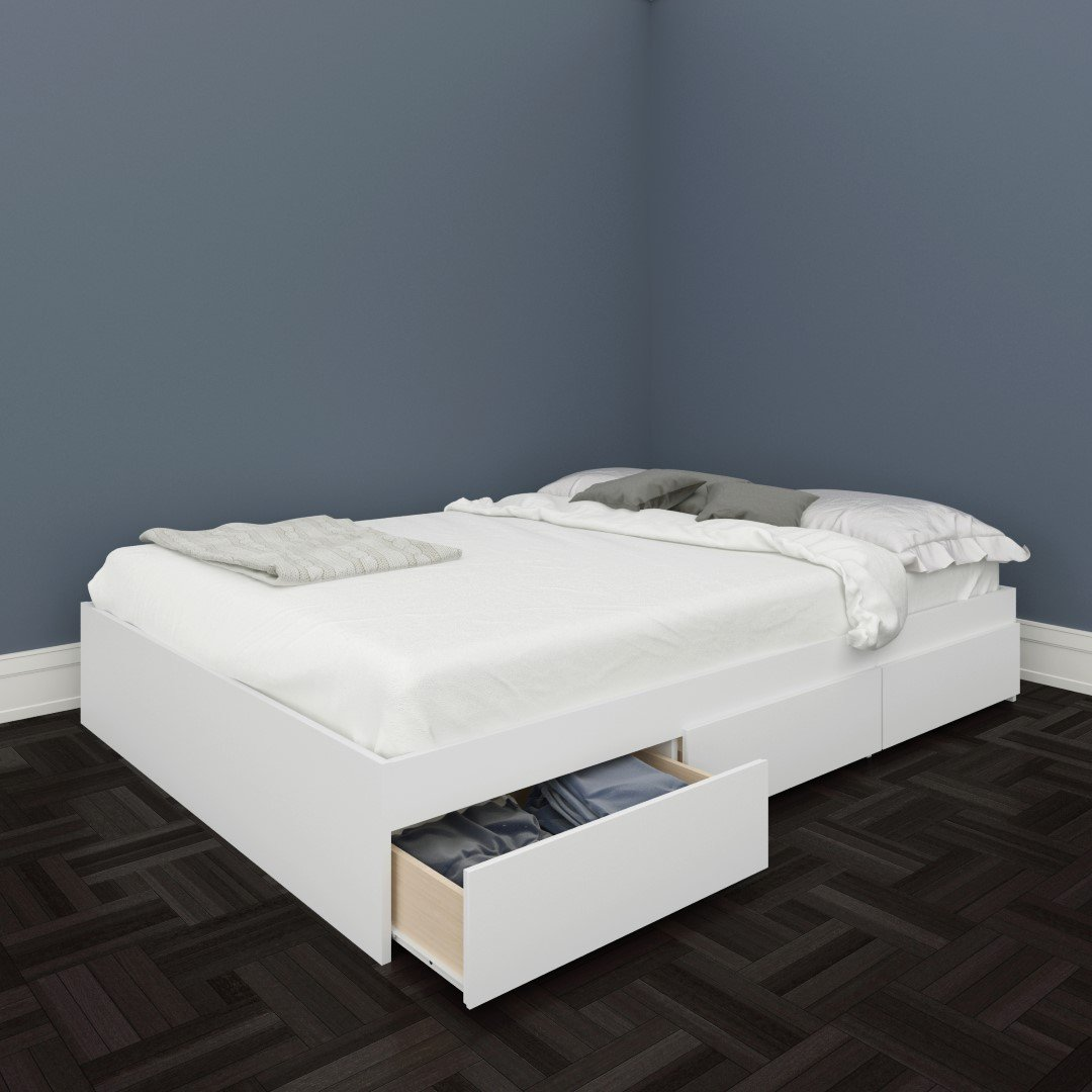 white full storage bed. Amazon.com: Nexera 225403 Blvd Full Size Storage Bed, White: Kitchen \u0026 Dining White Bed