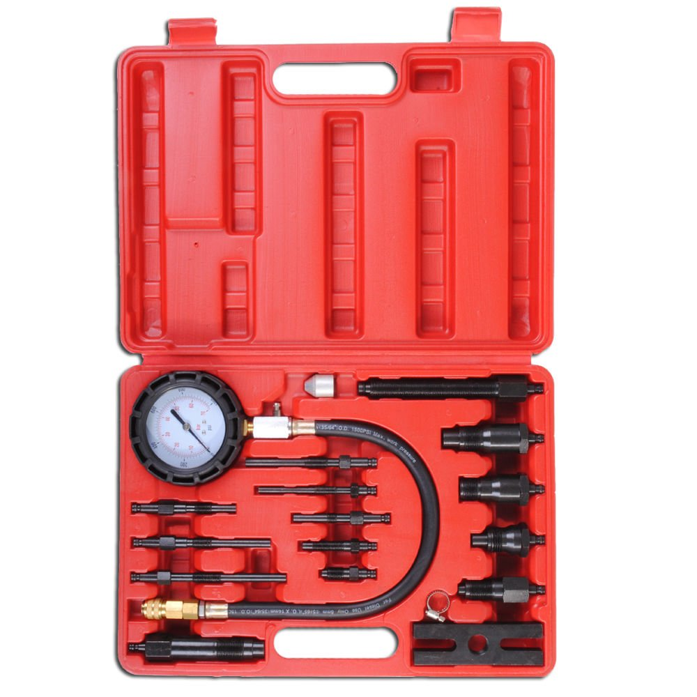 PMD Products 17pc Professional Diesel Engine Cylinder Compression Tester Tool Kit Set by PMD Products (Image #1)