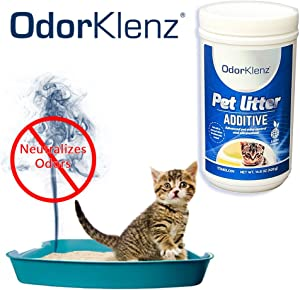 OdorKlenz Pet Litter Additive, Odor Neutralizer, Made in USA