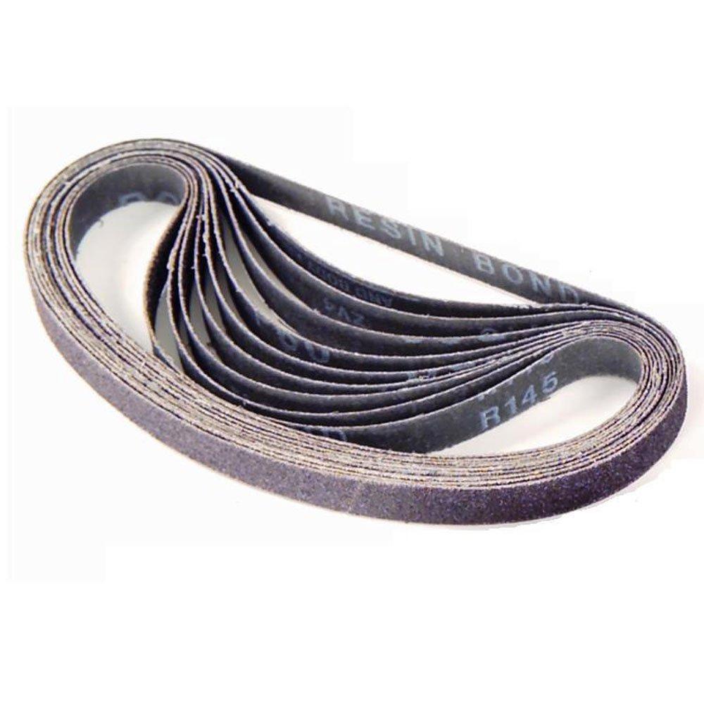 Gyros 12-14280/10 1 by 42-Inch 80 Grit Aluminum Oxide Sanding Belt, 10-Pack