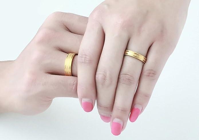 cc6cfe3f1e38 KNSAM - anillos de banda de acero inoxidable con chorro de arena para pareja