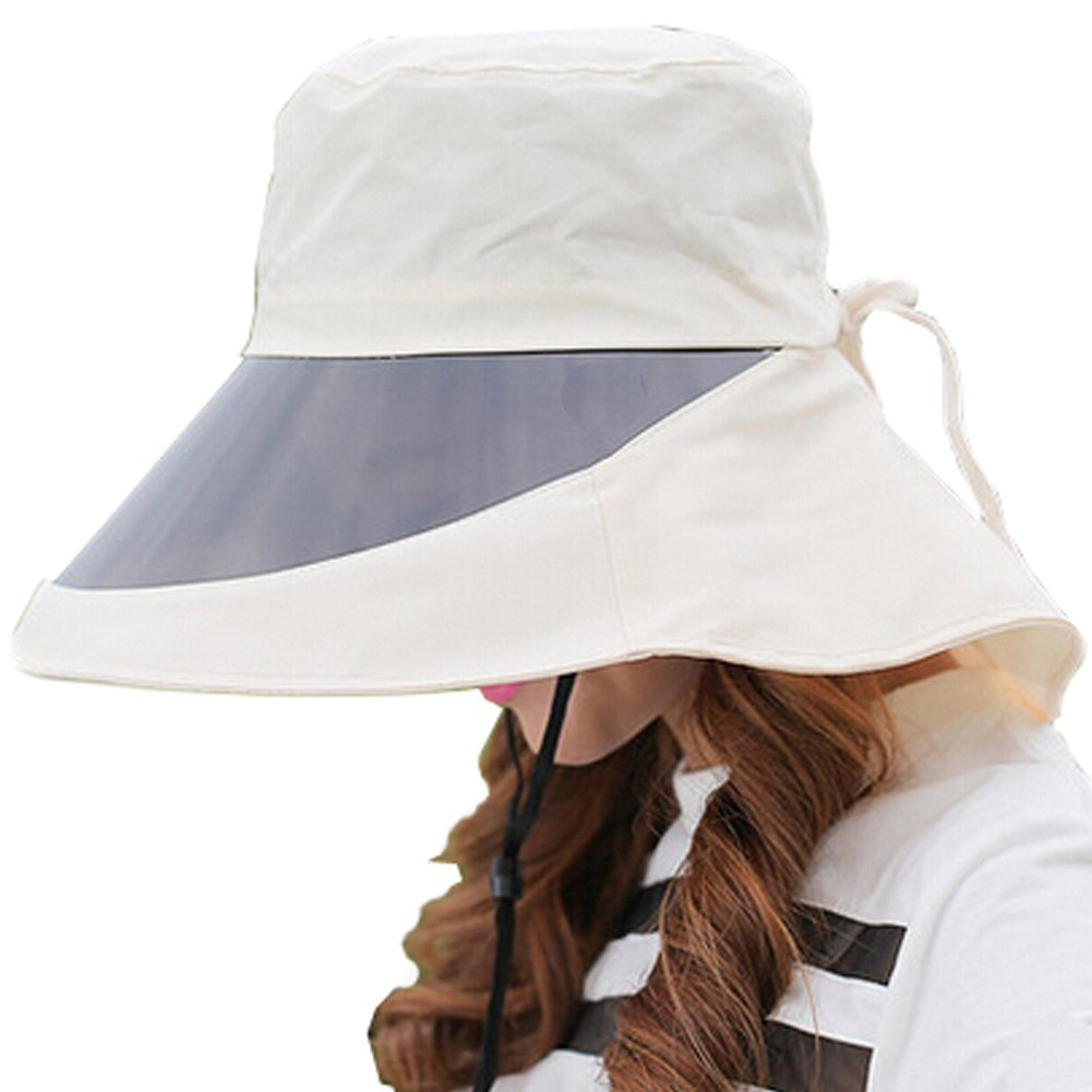 219662bf74e Amazon.com   Adjustable Cycling Sun Hat Outdoor Wide Brim UV Protection Caps  With Lens