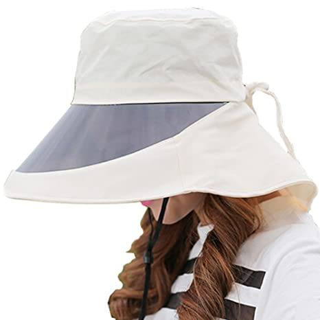 88500bb7 Image Unavailable. Image not available for. Color: Kylin Express Adjustable Cycling  Sun Hat Outdoor Wide Brim UV Protection Caps with Lens ...