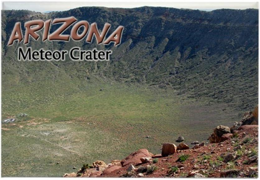 CafePress Arizona de estrellas fugaces de Cráter rectangular imán ...