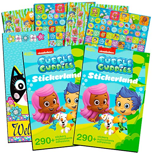 Bubble Guppies Stickers Set ~ Over 580 Stickers with Separately Licensed Door Hanger (Bubble Guppy Party Supplies) ()