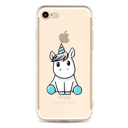 Funda iPhone 6 Plus Unicornio,MUTOUREN TPU Silicona Transparente Ultra Fina Cubierta Carcasa para iPhone 6 Plus/6S Plus 5.5 - Unicornio 05