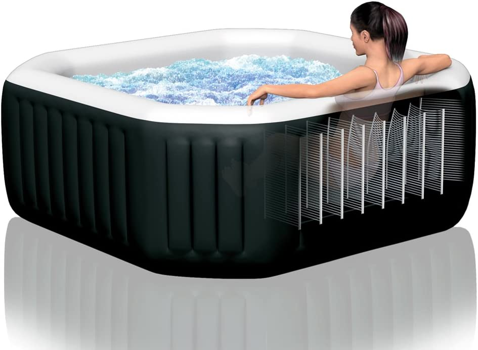 Intex 28456 - Spa hinchable Jet y Burbujas octogonal 1.098 litros: Amazon.es: Jardín