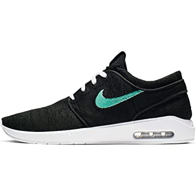d5e3c5aef4ad1 Nike Men's SB Air Max Janoski 2 Skateboarding Shoe (Black/Mint-Black,
