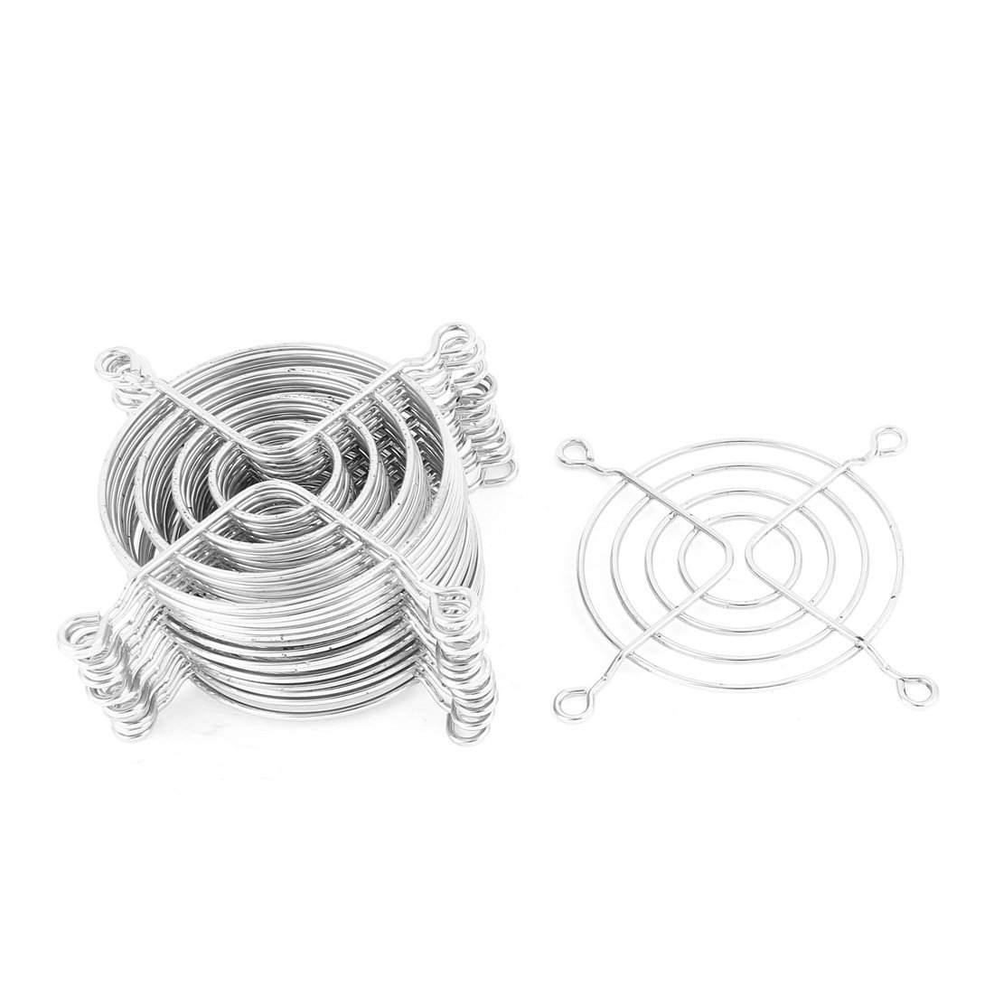 NA Metal Wire Finger Guard Protect Grill Computer PC Cooling Fan 15pcs Silver Tone