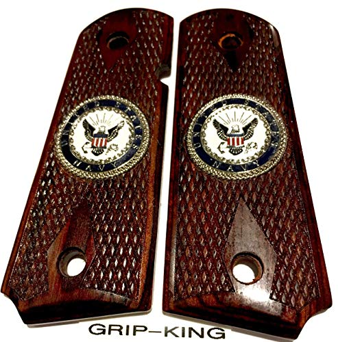 1911 COMPACT GRIPS SALE $37.73. U.S. NAVY MEDALLIONS.FITS 3-4 INCH BARREL SIG,COLT OFFICERS & DEFENDERS,SPRINGFIELD,KIMBER CDP,PARA & AUTO ORDINANCE,WILSON,C-7,S & W,RUGER #6758,CLONES. MADE IN U.S.A.