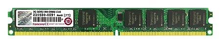 Transcend 2 GB DDR2 Desktop RAM Memory at amazon