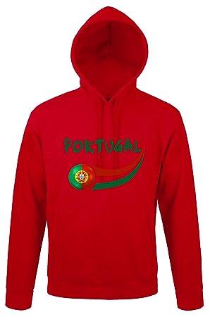 Supportershop - - Sudadera con Capucha Portugal Hombre, Rojo, FR: S (Talla del Fabricante: S): Amazon.es: Deportes y aire libre