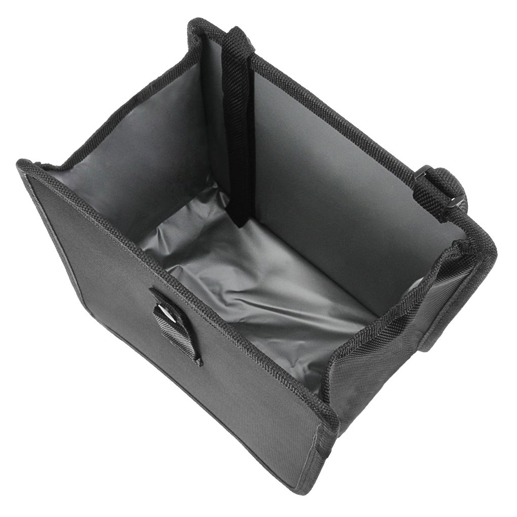 Foldable Car Trash Basket Bin Auto Trash Can Garbage Organizer Handy Compact Save Space Litter Bag Convenient Accessory for Vehicle Car Auto Black JIAHG