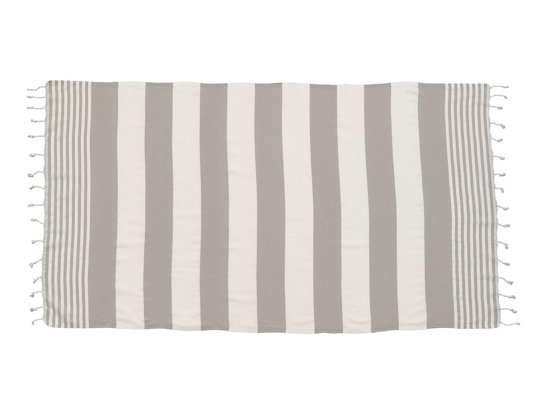 Lelilian Hammam Turkish Beach Towel 100/% Cotton Black Grey /& White Stripe 100 x 175cm Beach Gym Yoga Travel Towel Peshtemal Spa Sauna Blanket Sarong Fast Drying