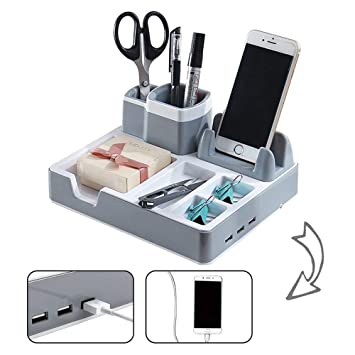 Buromaterial Desk Organizer Schreibtisch Ordnungssystem Mit 3 Usb