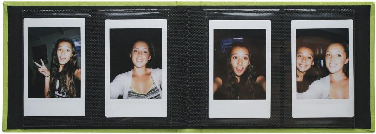 Holds 40 Photos for Polaroid PIF-300 Instant /& Fuji Instax Mini Film Selfie 2.25 x 3.5 Photo Album Lime