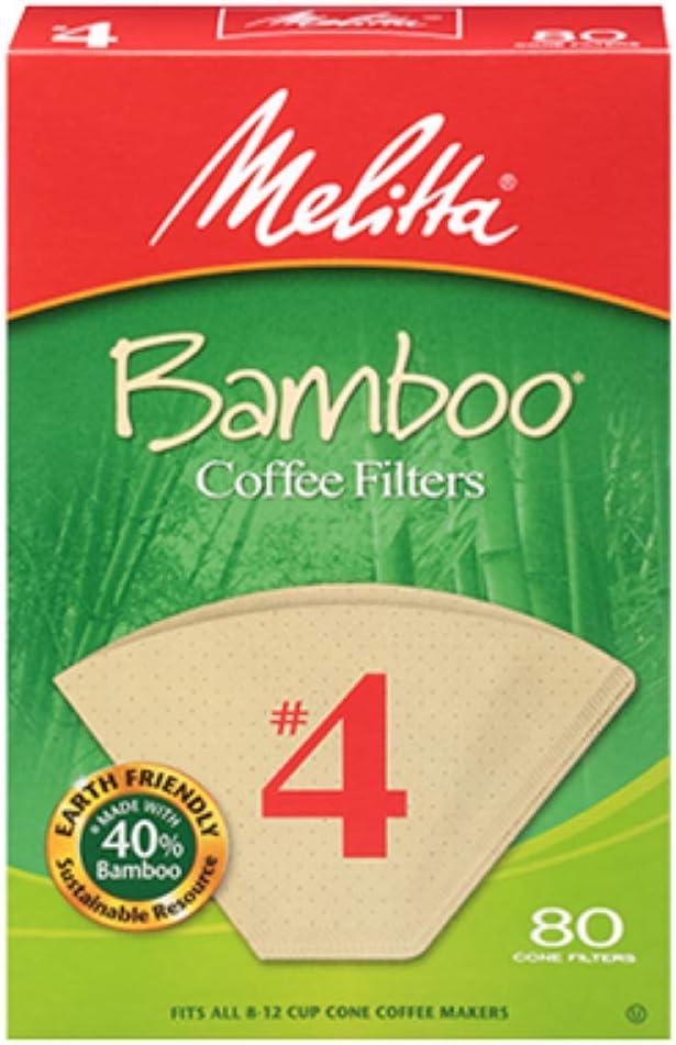 Melittta Premium #4 Cône Papier Filtres à café Natural Brown 100 comte-Pack de 2