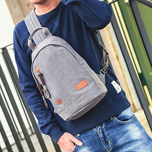 Zaino Da Uomo In Tela Vintage Per Borsa College College Sport Borsa Da Viaggio Borsa Daypack Si Adatta A 15 Pollici Laptop Grigio