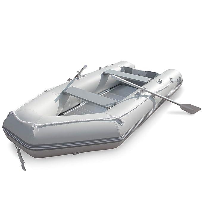 Barca Hinchable para 4 Personas | 320 x 152 cm, con 2 Remos de Aluminio y Bomba, Capacidad 536 kg, Suelo de Aluminio, para 4 Personas Adultas y 1 Niño ...
