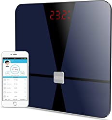 Bluetooth Body Fat Scale, Dr.meter Digital Bathroom Weight Scale with iOS and Android