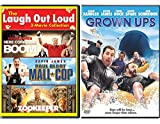 Laugh with Kevin 4 Movie James DVD Collection Happy Comedy Movies Paul Blart Mall Cop & Grown Ups / Zookeeper + Here Comes the Boom Comedy Man Feature Bundle