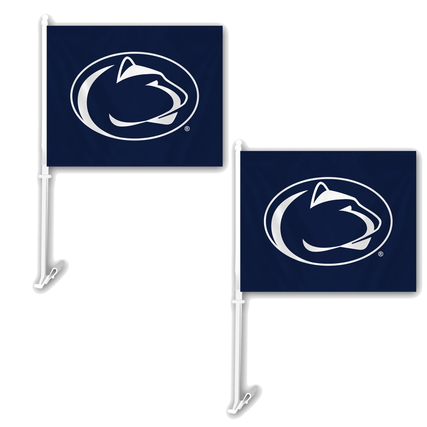NCAA Official National Collegiate Athletic Association Fan Shop Authentic 2-pack Car Flag. Show School Pride While Driving