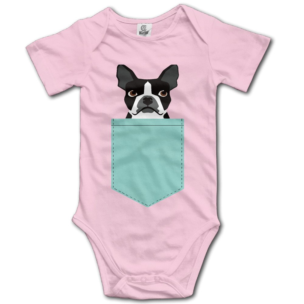 Infant Boston Terrier And French Bulldog Short Sleeve Unisex Baby Jumpsuit Onesie