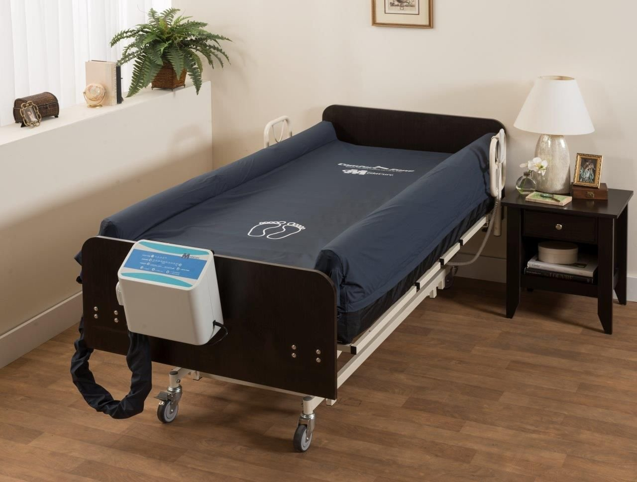Bariatric Heavy Duty Alternating Pressure Low Air Loss Medical Mattress and Pump for Pressure Ulcer and Bed Sore Treatment w/BUILT-IN Fall Prevention AIR PERIMITER BOLSTER - 42'' Extra Wide