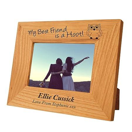 Personalised Best Friend Oak Frame, Engraved Best Friend gift idea ...
