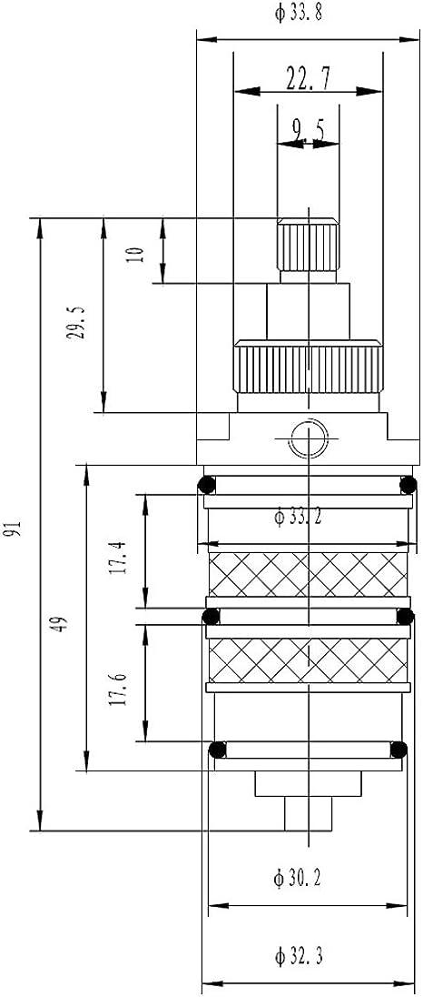 Cartucho termostático Trueshopping al PN322 grifo mezclador de ...