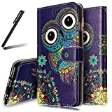 iPhone 6S Plus Stand Case,iPhone 6 Plus Wallet Case,iPhone 6 Plus Cover,Flip Case for iPhone 6 Plus / 6S Plus,SKYMARS iPhone 6S Plus Cover Gloss Skin 3D Creative Design Book Style PU Leather Flip Kickstand Cards Slot Wallet Magnet Protective Stand Case for iPhone 6 Plus / 6S Plus 5.5 inch Cute Owl