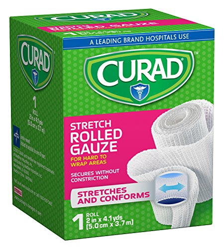 Curad Rolled Gauze, 2 Inches X 4.1 Yards (Pack of 24) ()