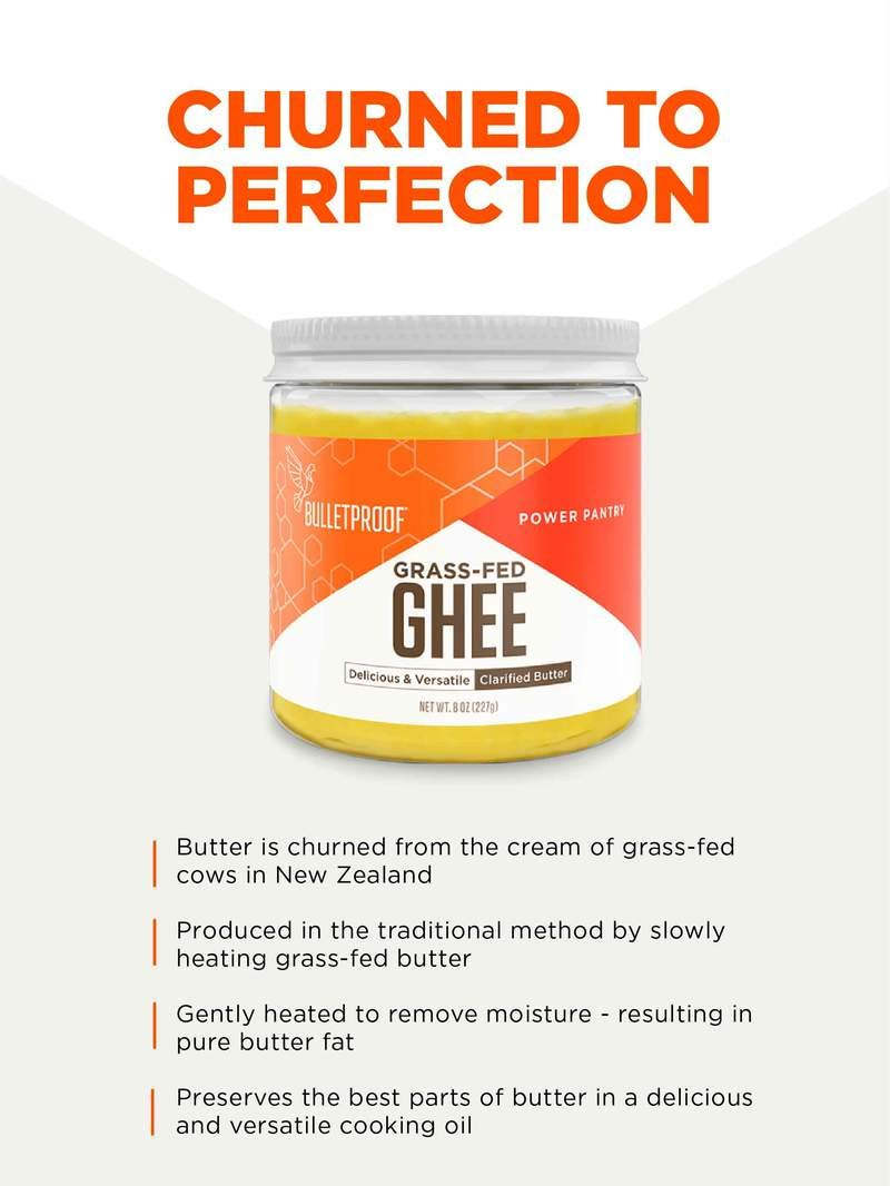 Bulletproof Grass-Fed Ghee, Quality Clarified Butter Fat from Pasture-Raised Cows, Gluten-Free, Non-GMO (8 oz) by Bulletproof (Image #5)