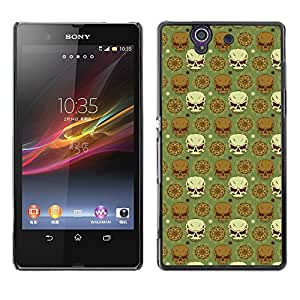 iKiki-Tech Estuche rígido para Sony Xperia Z L36H - Dark Skull