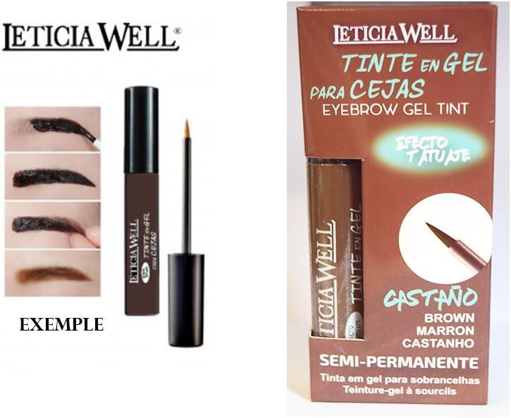 Gel tinte Sourcil N ° 3 marrón Semi Permanente – efecto tatuaje – Leticia Well
