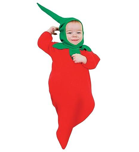 5eed3c9bf9cad Costume vestito di carnevale per neonato PEPERONCINO  Amazon.it ...